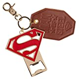 Superman Premium Bottle Opener and Leather Key Ring