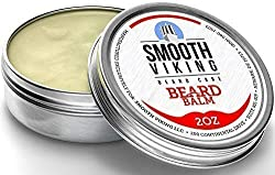 Beard Balm with Leave-in Conditioner- Styles, Strengthens & Thickens for Healthier Beard Growth, While Argan Oil and Wax Boost Shine and Maintain Hold- 2 oz Smooth Viking  Image 2