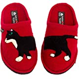 Haflinger Women's Wool Flair Babsy Clog Slippers (Red, 8)