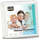 Utopia Bedding Waterproof Zippered Mattress Encasement Cover - Bed Bug Proof, Vinyl Safe and Hypoallergenic Protection (Queen)