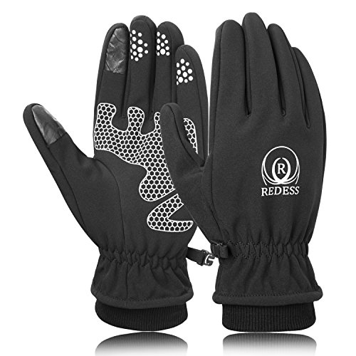 Winter Cycling Gloves for Men and Women, Waterproof Touchscreen Outdoor Fleece Lining Thick Thermal Driving Gloves by REDESS