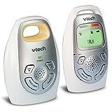 VTech DM223 Audio Baby Monitor with up to 1,000 ft of Range, Vibrating Sound-Alert, Talk-Back Intercom, Digitized Transmission & Belt Clip