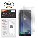Samsung Galaxy Note FE Screen Protector, BoxWave [ClearTouch Anti-Glare (2-Pack)] Anti-Fingerprint Matte Film Skin for Samsung Galaxy Note FE