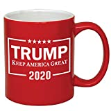 P&B Donald Trump, Make America Great Again Ceramic Coffee Mugs (11 oz, Red/Trump_2)