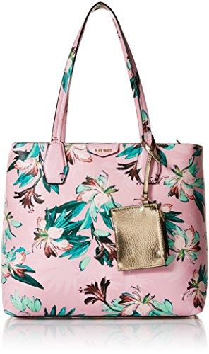 Nine West Caden Pink Floral Tote Bag, Multi Platino