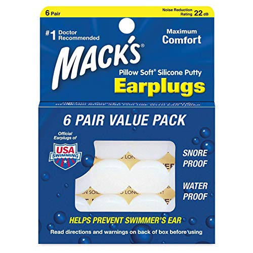 Mack's Pillow Soft Silicone Earplugs -, Value Pack - The Original Moldable Silicone Putty Ear Plugs for Sleeping, Snoring, Swimming, Travel, Concerts and Studying ... (24 Pairs)