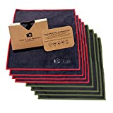 EXTRA LARGE [8 Pack] Clean & Clear Microfiber - ULTRA PREMIUM QUALITY Lens Cleaning Cloths - Camera Lens, Glasses, Screens, and all Lens.
