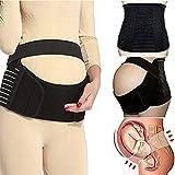 CROSS1946 CFR Soft Loving Comfort Maternity Belt Band Back Support, Abdomen Band, Back Brace, Size XL, Black