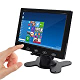 SallyBest 7 Inch Ultra Thin 16:9 HD 800*480 TFT LCD Color Car Rear View Monitor 2 Video Input DVD VCD Headrest Vehicle Monitor Support Audio Video HDMI VGA