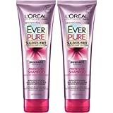 L'Oreal Paris Hair Care EverPure Moisture Sulfate Free Shampoo for Color-Treated Hair, Moisturizes + Replenishes Dry Hair, 2 count (8.5 fl. oz. each)