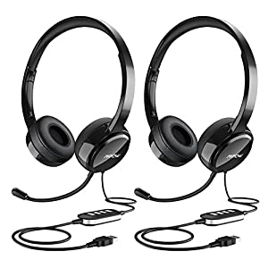 45c4af6becf Mpow (2-Pack) USB Headset/3.5mm Computer Headset with Microphone Noise