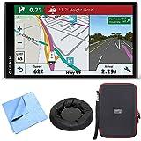Garmin RV 770 NA LMT-S RV GPS Navigator for Camping w/ Dash Mount + Case Bundle includes Nav-Mat Portable GPS Dash Mount, PocketPro XL Hardshell Case and Cleaning Cloth