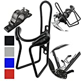 Lumintrail Bike Bottle Holder w/Handlebar Mount Adapter Lightweight Aluminum Alloy Bicycle Water cage (Black)