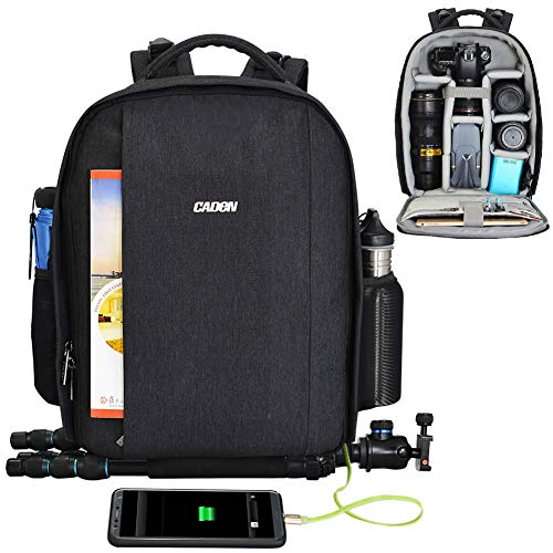 Professional DSLR Camera Backpack Bag Messenger Sling Bag Water Repellent for Sony Canon Nikon Olympus Lens Tripod and Accessories