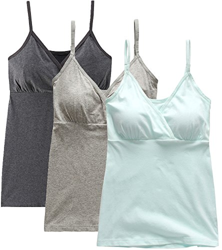 Nursing Tops Tank Shirts Cami for Maternity and Breastfeeding