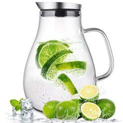 Susteas 2 liter Glass Water Carafe
