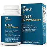 Dr Tobias Liver 21 Day Cleanse - Detox Pills: Detoxifier & Regenerator - Solarplast, Milk Thistle (Silymarin), Artichoke, Dandelion & Proteolytic Enzymes Supplement