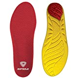 Sof Sole Insoles Men's High Arch Performance Full-Length Foam Shoe Insert, Men's 11-12.5 Red