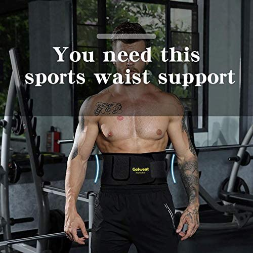 GoSweat Waist Sweat Trainer with Pocket, Plus Size Trimmer Belt for Women & Men, Slimming Band, Belly Wrap for Weight Loss, Stomach Fat Burner, Workout 7