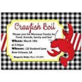 Crawfish Boil Invitation - Birthday, Engagement, Family Party or Just for Crawfish