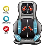 Comfier Shiatsu Neck & Back Massager – 2D/3D Kneading Full Back Massager with Heat & Adjustable Air Compress, Massage Chair Pad for Shoulder Neck and Back Waist Hips,Full Body Pain Relief