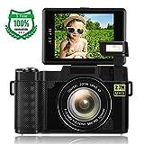 Digital Camera,Vlogging Camera for Youtube 2.7K 24.0MP Ultra HD WiFi Camera 3.0 Inch 180 Degree Rotation Flip Screen Retractable Flashlight