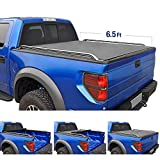 Tyger Auto T2 Low Profile Roll-Up Truck Bed Tonneau Cover TG-BC2C2059 works with 2014-2019 Chevy Silverado / GMC Sierra 1500 2500 3500 HD | Fleetside 6.5' Bed | w/o Utility Track