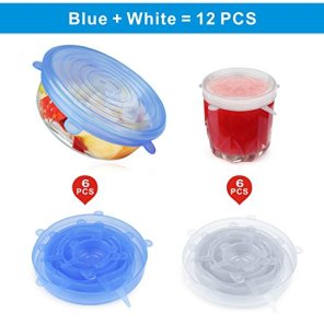 12-PCS-Kitchen-Silicone-Stretch-Lids-Reusable-Idefair-Airtight-Food-Storage-Covers-Various-Sizes-Seal-Bowl-Stretchy-Wrap-Cover-Keep-Food-Fresh-for-Containers-Cups-Plates-Microwave-Dishwasher-Safe
