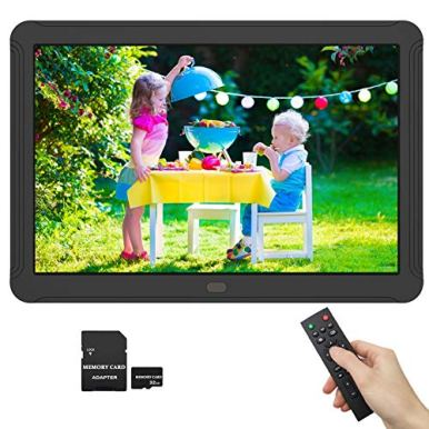 1920x1080-Digital-Picture-Frame-8-Inch-169-IPS-Screen-Photo-Auto-Rotate-Auto-Turn-OnOff-HD-Video-Frame-Calendar-Alarm-Clock-Background-Music-Remote-Control-Include-32GB-SD-Card