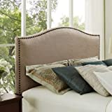 Product review for Better Homes and Gardens Grayson Linen Headboard with Nailheads, Color Beige, Size: King (King, Oatmeal)