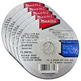 """Makita 5 Pack - 4.5"""" Cut Off Wheels For Grinders - Aggressive Cutting For Metal & Stainless Steel/INOX - 4-1/2"""" x .045 x 7/8-Inch 