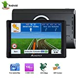 Aonerex GPS Navigation for Car, Sat Nav 7 inch Touch Screen 512MB 16GB WiFi,Turn-by-Turn Voice Prompt GPS Navigation System,Quad Core Android GPS Navigation,-Lifetime Map Updates