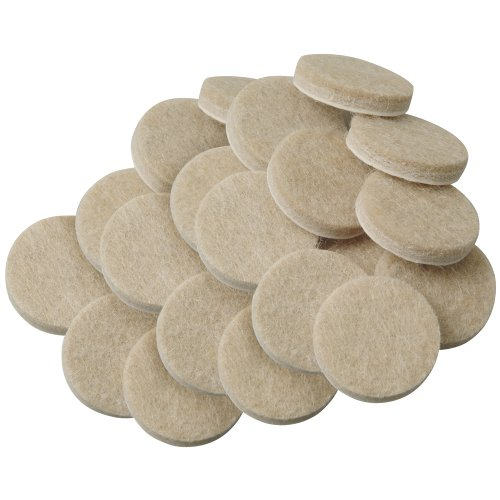 SoftTouch 4718595N Round Self Stick Felt Furniture Pads for for Hardwood Floors 3/4 Inch, Linen (20 Pieces),