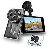 Dual Dash Cam Front and Rear, NINE CUBE 1080p HD Driving Recorder,Car DVR Dashboard Camera, 4' IPS Screen, 170° Super Wide Angle, G Sensor, Loop Recording, Parking Monitor, Motion Detection