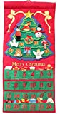 Pockets of Learning Merry Christmas Tree Advent Calendar, Holiday Décor, Seasonal Fabric Wall Hanging, Cloth Countdown