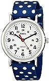 Timex Women's Weekender Reversible Dots | Blue/White Nylon Strap Watch TW2P66000