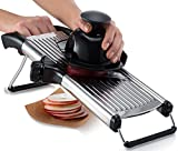 Gourmia GMS9105 Adjustable Stainless Steel Mandoline Slicer Dial-Style Kitchen Slicer With Built in Adjustable Blades Fine to Thick Slice & Julienne Settings