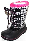 OZARK TRAIL Toddler Preschool Girl's Plaid Winter Duck Boots with -5 Temp Rating (9) Black