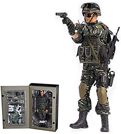 Amazon Com Soldier Action Figures 1 6 12inch Armed Police Army Military Action Figures Models Kits Toy For Boys And Men Toys Games