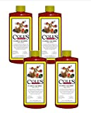 Cole's Flaming Squirrel Seed Sauce; Natural and Super Hot Nutritional Birdseed Sauce; Tastes Hot To Mammals, but Not To Wild Birds; Food Grade Ingredients; 16 Ounce, Pack of 4