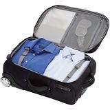 AmazonBasics Expandable Softside Carry-On Luggage Suitcase With TSA Lock And Wheels - 22 Inch, Black