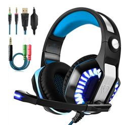 51CElUOhcJL - Aubess for PS4/Xbox One/PC/Nintendo Switch Gaming Headset Stereo Wired Clarity Noise Reduction Headphone with Mic-Sound LED Light (Blue)