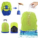AYAMAYA Waterproof Backpack Rain Cover with Stored Bag 30-40L, Lightweight Packable Durable Hiking Backpack Daypack Cover Elastic Adjustable Raincover Water Resist Cover for Travel Backpack -Green