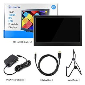 Elecrow-133-Inch-Raspberry-Pi-Display-Portable-Monitor-1920X1080-IPS-with-Dual-Mini-HDMI-External-Monitor-Compatible-with-Raspberry-Pi-Game-Console-Win-PC