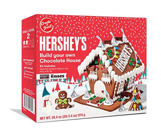Hershey's Build Your Own Chocolate Holiday Gingerbread House Kit - 34.4 oz: Amazon.com: Grocery & Gourmet Food