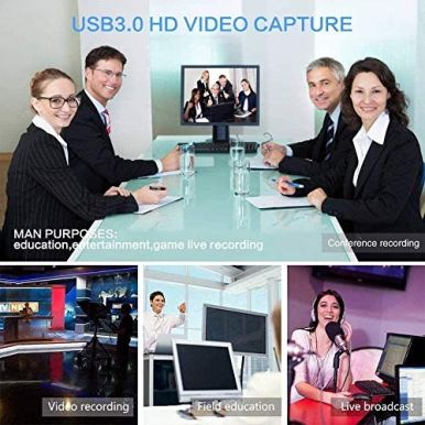 LEADNOVO-Audio-Video-Capture-Card-HDMI-to-USB-30-2020-New-Upgrade-Full-HD-UP-to-1080P-60fps-Live-Video-Recorder-Game-Capture-Card-for-Laptop-High-Definition-Acquisition-Live-Broadcasting