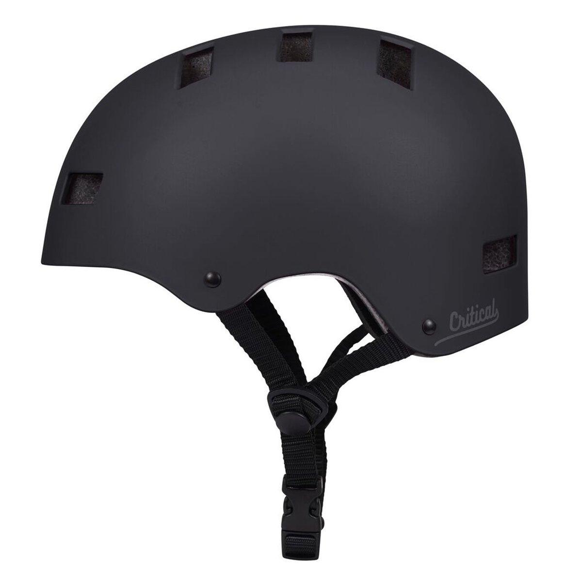 Critical Cycles Classic Commuter Bike/Skate/Multi-Sport CM-1 Helmet with 10 Vents, Matte Black,