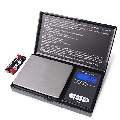 Digital Pocket Scale, High Accuracy within 1000g/0.1g, Personal Nutrition Scale with LCD Back-Lit Display, Portable travel scale for Food, Medicine, Jewelry(Battery Included)