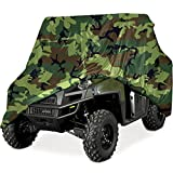North East Harbor Heavy Duty Waterproof Superior UTV Side By Side Cover, Cover Fits Up To 120'L w/ Roll Cage – Green Camouflage