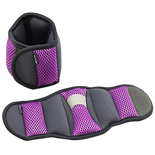 Empower Ankle & Wrist Weights for Women, Soft, Adjustable Weights, Adjustable Strap, Running, Walking, Exercise, Resistance Training, Toning, (1 Pair) 3lb, 5lb, 8lb, 12lb